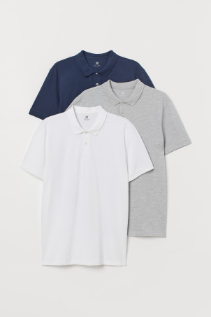 3-pack polo shirtsModel
