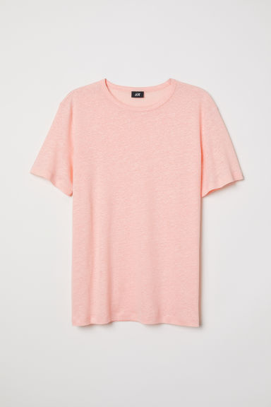 Linen T-shirt - Coral - Men | H&M