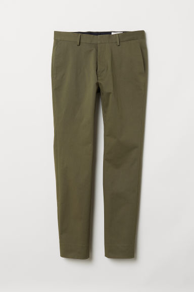 Cotton chinos - Khaki green - Men | H&M