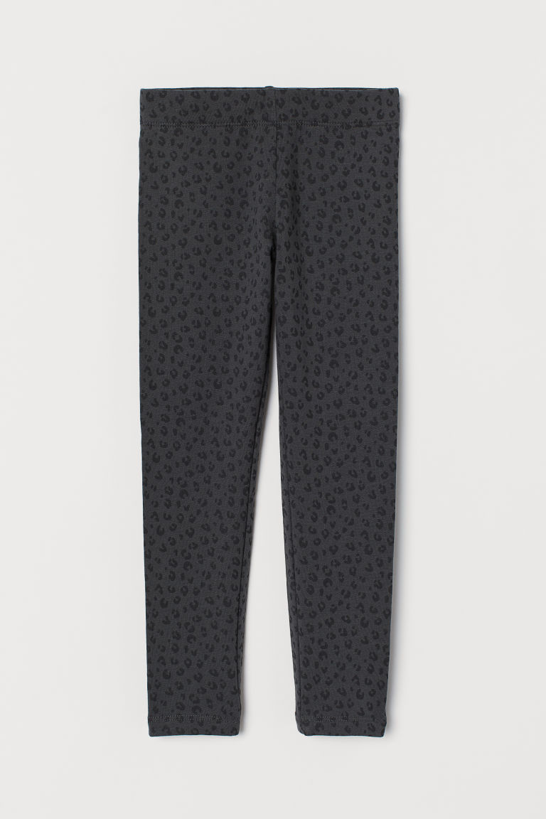 Innen angeraute Leggings - Dunkelgrau/Leopardenmuster - Kids | H&M AT