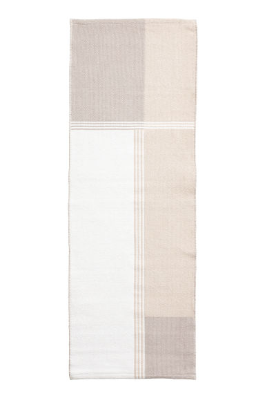 Block-coloured cotton rug - White/Light grey - Home All | H&M GB
