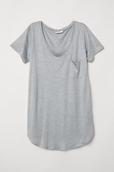 MAMA T-shirt - Light grey marl - Ladies | H&M