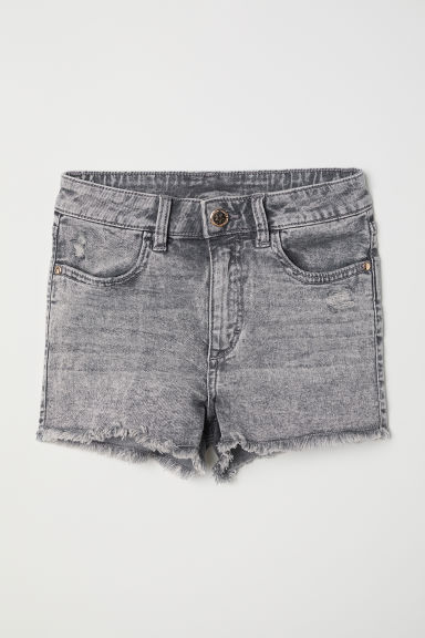Twill shorts - Light grey/Washed -  | H&M