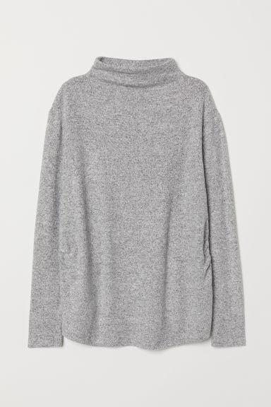 MAMA Fine-knit jumper - Light grey marl - Ladies | H&M CN