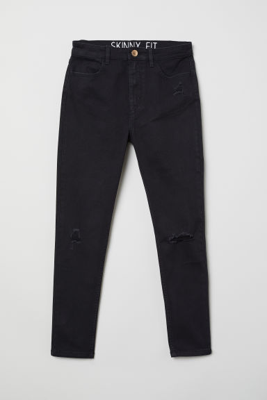 Twill trousers Skinny Fit - Black/Worn - Kids | H&M