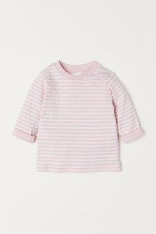 Long-sleeved cotton top