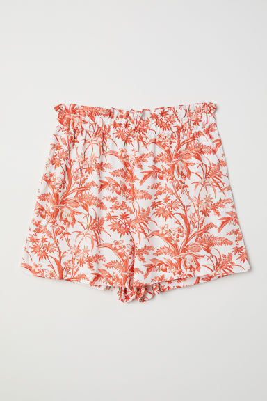 Short ample - Blanc/orange - FEMME | H&M FR