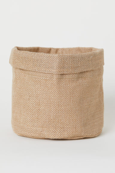 Small jute storage basket - Natural - Home All | H&M CN