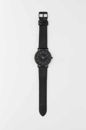 Watch with a leather strapModel