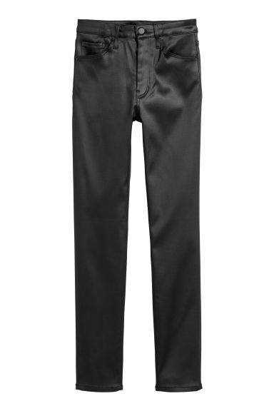 Stretch trousers High waist - Black -  | H&M