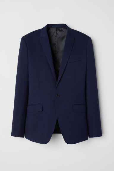 Textured jacket Skinny fit - Dark blue -  | H&M GB