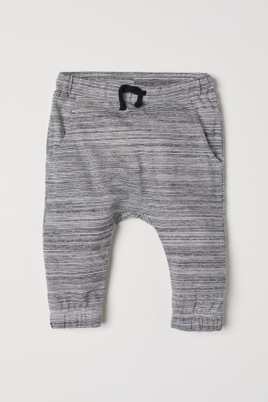 Pull-on trousers - Light grey/Striped - Kids | H&M CN