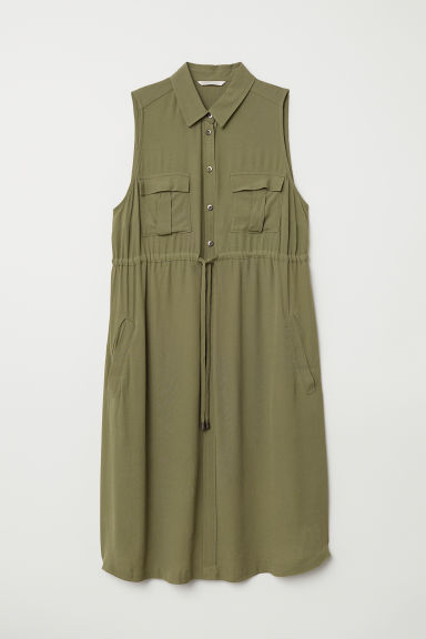 MAMA Utility dress - Khaki green - Ladies | H&M