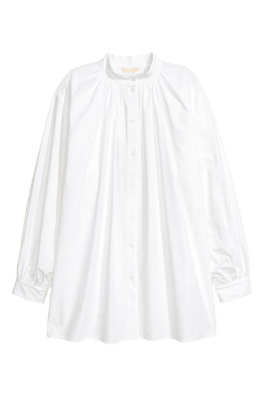 Cotton shirt - White -  | H&M CN
