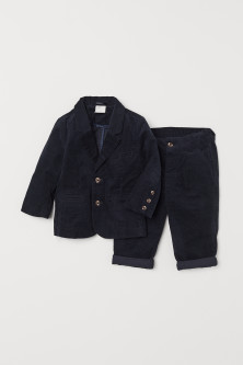Corduroy jacket and trousers