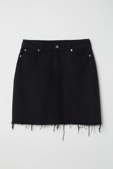 H&M+ Denim skirt - Black - Ladies | H&M CN