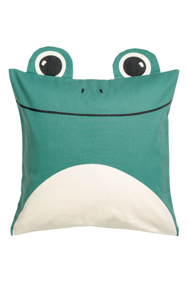 Cotton twill cushion cover - Green/Frog - Home All | H&M CN