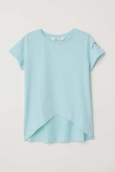 Jersey top - Light turquoise -  | H&M