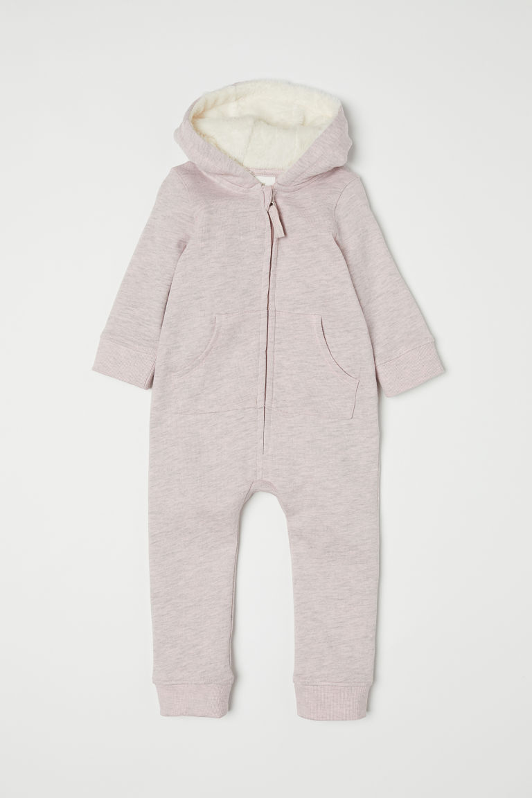 Sweatshirt all-in-one suit - Light pink marl - Kids | H&M CN
