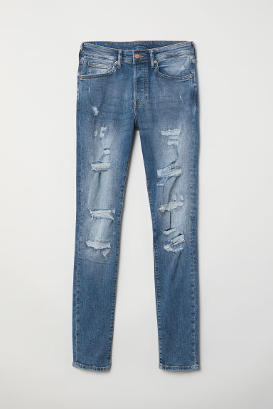 Skinny Trashed Jeans - Denim blue - Men | H&M CN