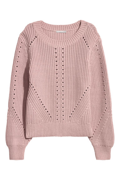 Knitted jumper - Powder pink -  | H&M CN