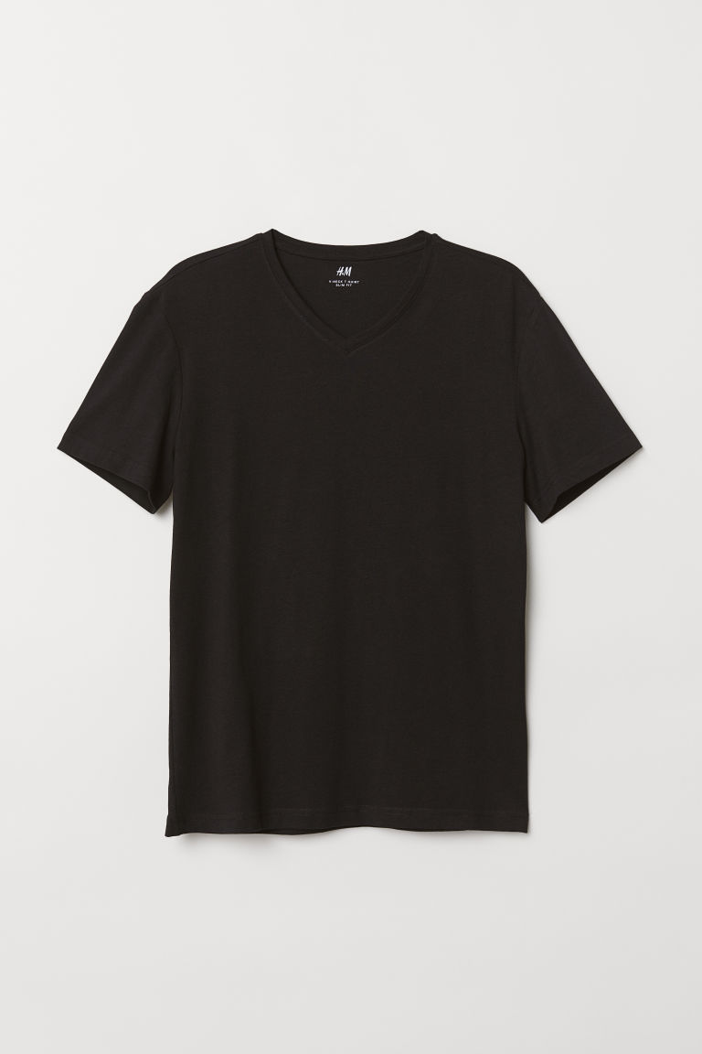 5-pack T-shirts Slim Fit - Black - Men | H&M CN