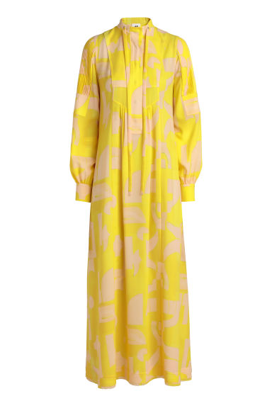 Patterned dress - Yellow - Ladies | H&M CN