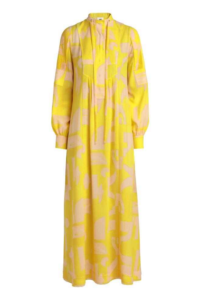 077d3827 Mønstret kjole - Gul - | H&M ...