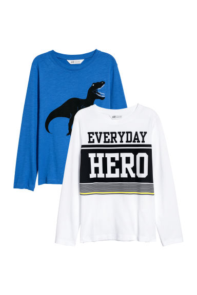 Top in jersey, 2 pz - Blu/dinosauro - BAMBINO | H&M IT