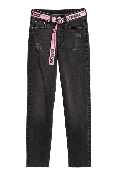 Slim Mom Jeans - Nero washed out - DONNA | H&M IT