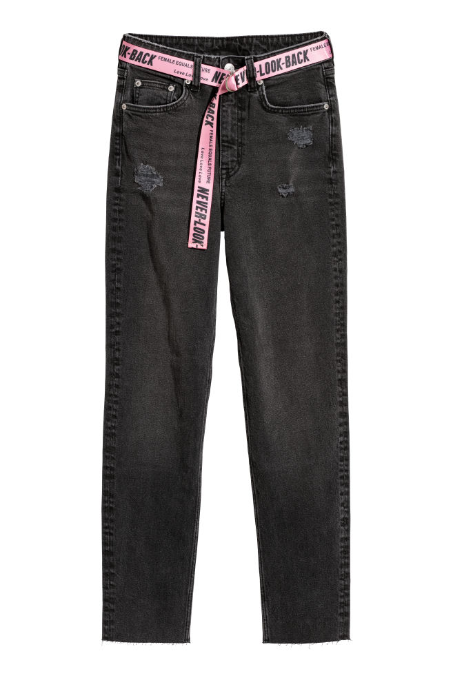e814a91d Slim Mom Jeans - Black washed out - | H&M ...