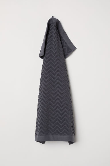 Jacquard-patterned hand towel - Anthracite grey - Home All | H&M GB