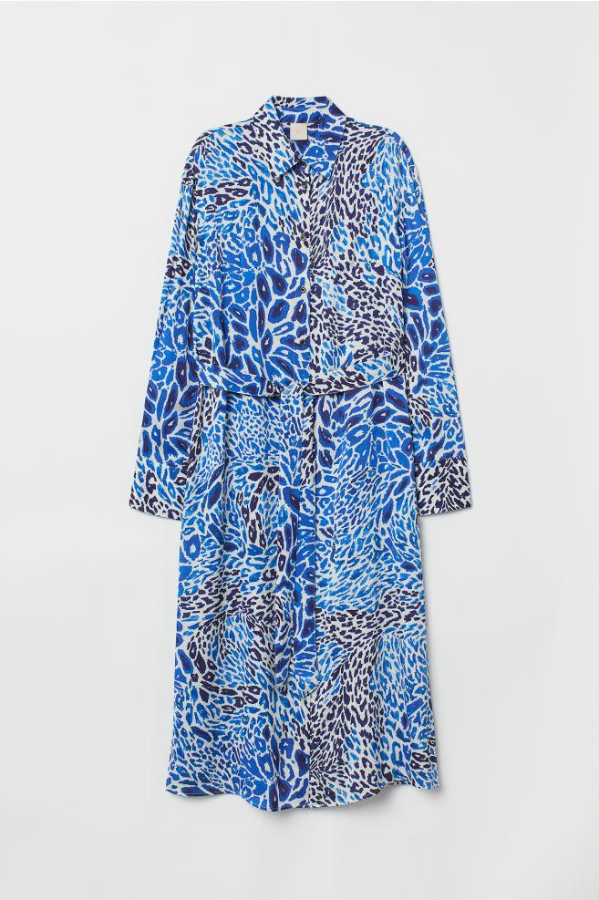 ... Shirt Dress - Blue leopard print - Ladies  cea2ab2d4