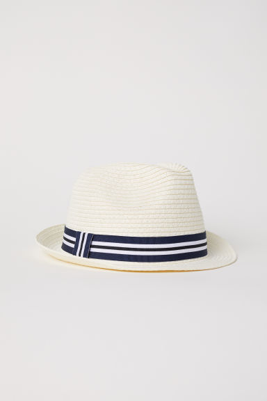 Straw hat - Natural white -  | H&M