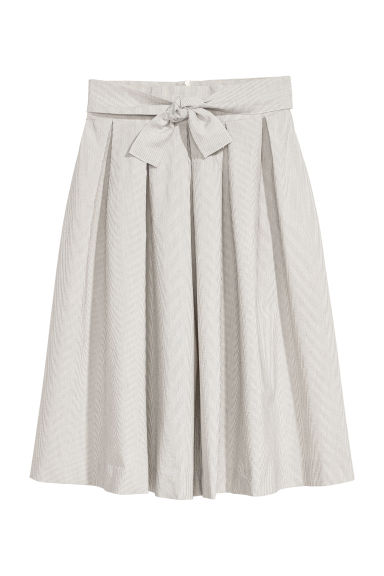 Bell-shaped skirt - Natural white/Blue striped - Ladies | H&M CN