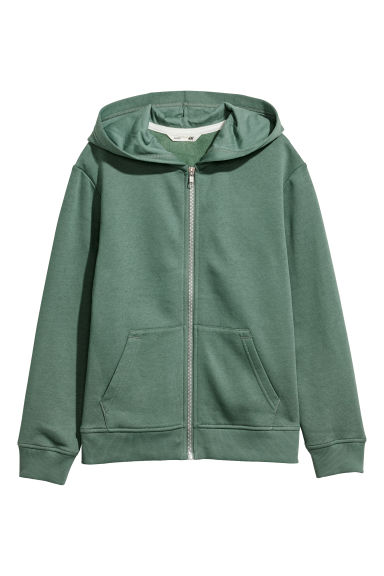 Hooded jacket - Green - Kids | H&M