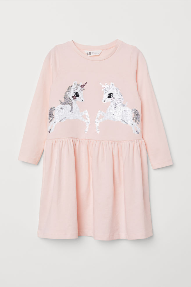 9cea0ed4fe2 Dress with Sequins - Light pink unicorns - Kids