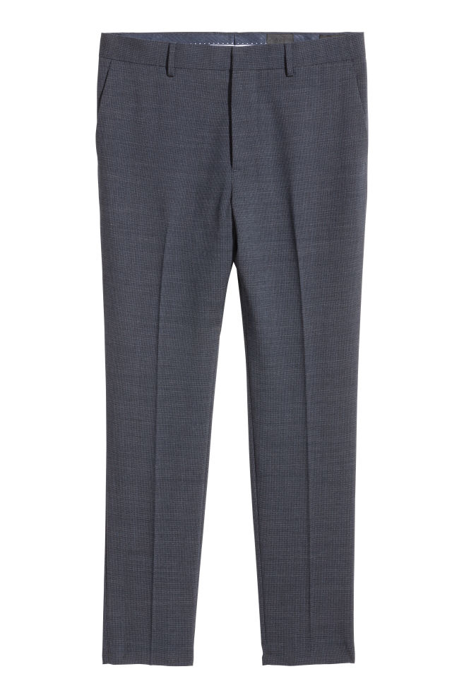 c4dbade461d Suit trousers Skinny fit - Dark blue Small checked - Men