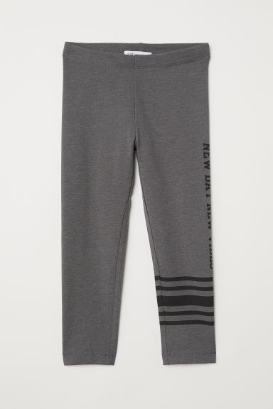 3/4-length leggings - Dark grey/New Vibes - Kids | H&M CN