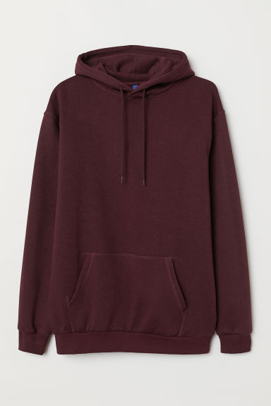 Hooded top - Burgundy - Men | H&M CN