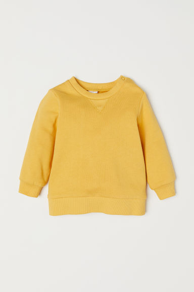 Cotton sweatshirt - Yellow - Kids | H&M CN