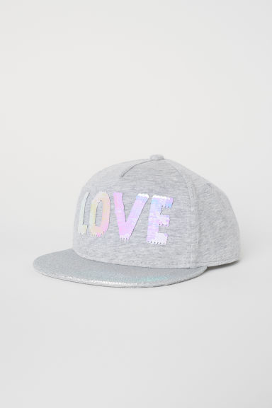 Printed cap - Light Grey/Love - Kids | H&M CN