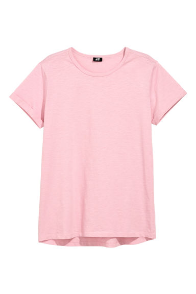 Tricot T-shirt - Roze - HEREN | H&M BE
