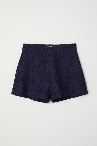 Lace shorts - Dark blue - Ladies | H&M