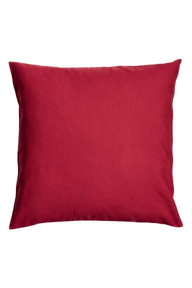 Cotton canvas cushion cover - Dark red -  | H&M IE