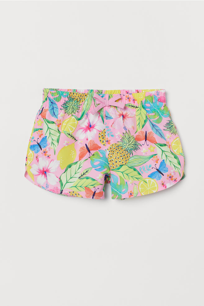 e980b8bd19 Patterned swim shorts - Neon pink/Fruit - Kids | H&M 1