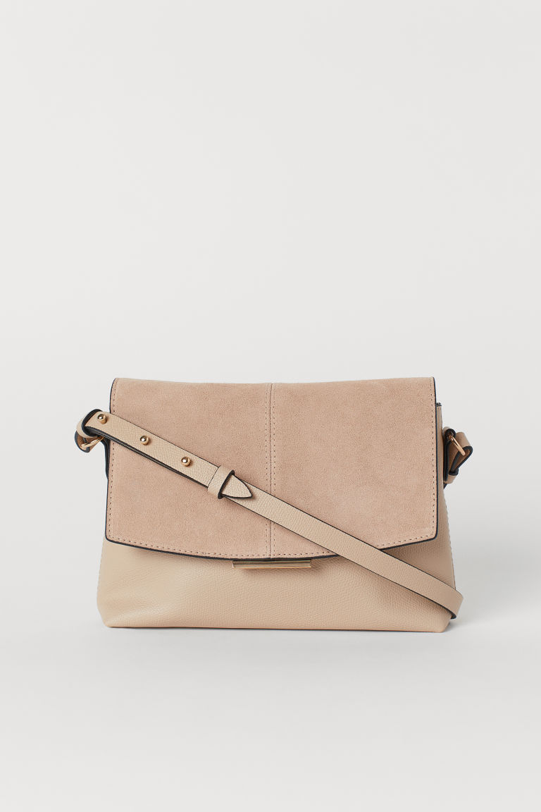 Shoulder Bag with Suede Detail - Beige - Ladies | H&M US