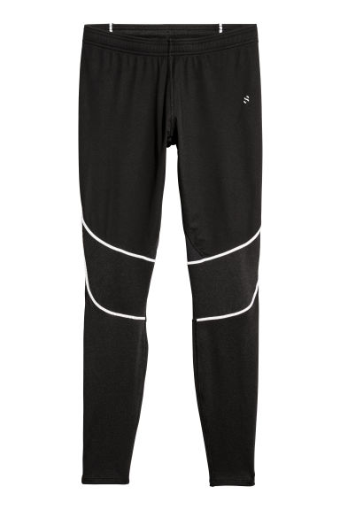Winter running tights - Black -  | H&M