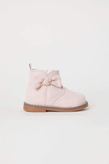 Warm-lined boots - Light pink - Kids | H&M