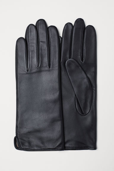 Leather gloves - Black - Ladies | H&M CN